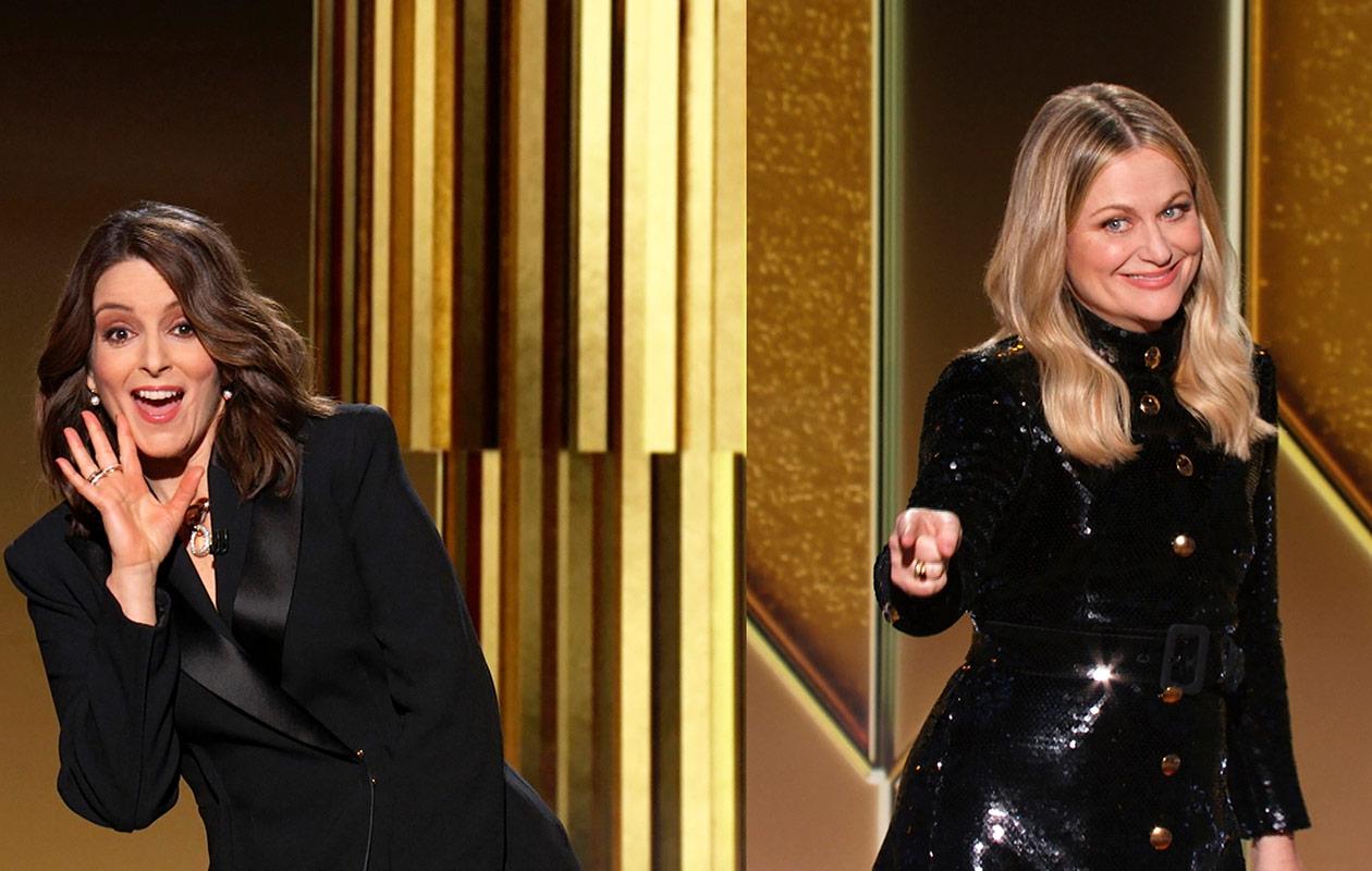 Tina Fey ja Amy Poehler esiintymässä.