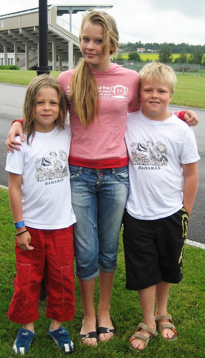 Alex ja Oskar lapsina, Milla nuorena.