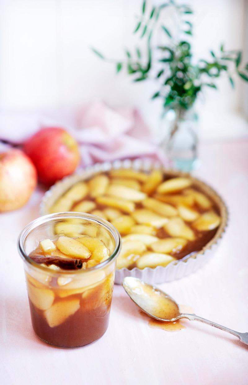 omenapiirakantäyte purkissa