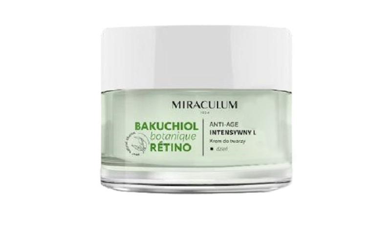 Miraculum Bakuchiol Anti-Age Intense Lifting -päivävoide sisältää ihoa uudistavaa bakuchiolia, suojaavaa E-vitamiinia ja täyteläistävää sekä kosteuttavaa 4D hyaluronihappoa, 50 ml 18 e.