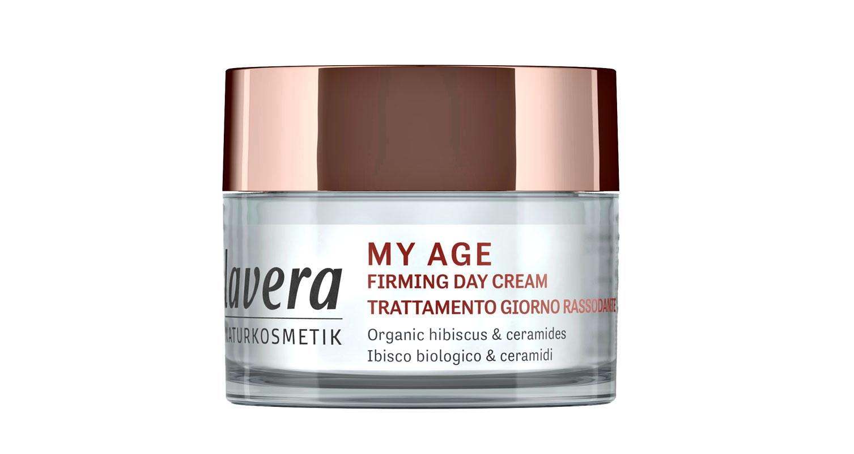 Kiinteyttävä Lavera My Age Firming -päivävoide sisältää C-vitamiinia ja kasvipohjaisia keramideja, sertifioitua luonnonkosmetiikkaa, 50 ml 24,50 e.