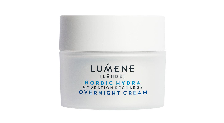 Lumene Nordic Hydra -tehokosteuttava yövoide auttaa kosteuden säilymistä ihossa ja tasapainottaa ihon mikrobiomia, 50 ml 22 e.