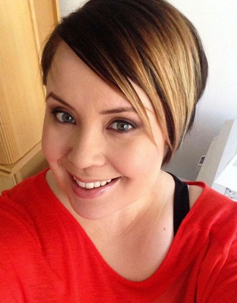 Vuonna 2013 Hanna toteutti toiveensa lyhyestä hiusmallista.