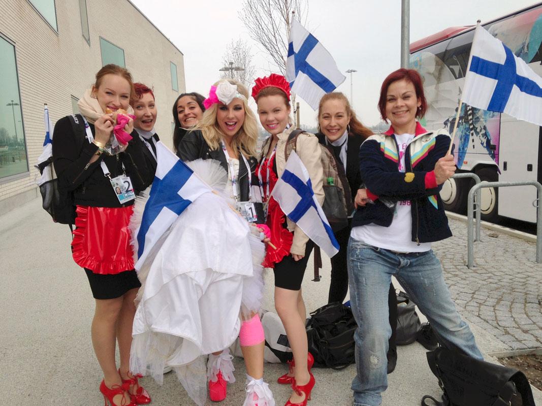Krista Siegfrids edusti Suomea Malmön Euroviisuissa vuonna 2013.