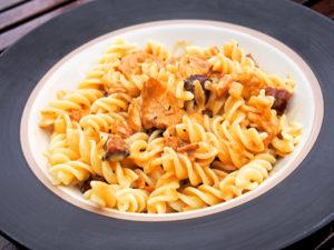 kanttarelli-chorizo-pasta