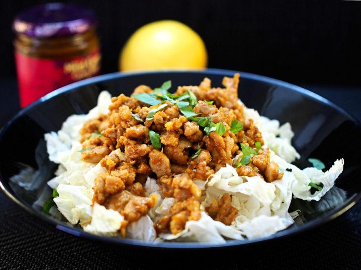 Sitruunamehussa ja currytahnassa paistetut broilerisuikaleet