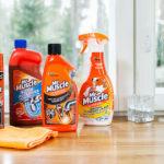 Mr. Muscle -tuoteperheestä löytyy useita tuotteita keittiön puhdistamiseen ja viemäritukosten avaamiseen.