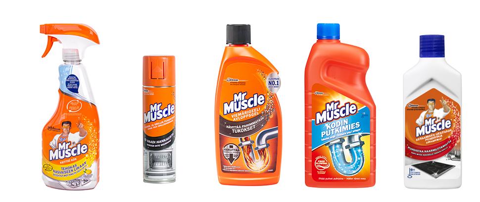 Mr Muscle tuotteet