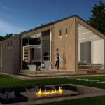 Kouvolan Asuntomessuilla esillä oleva BVG 65H Vjosa -minitalo edustaa ekologista asumista, jonka pohjaratkaisu sopii niin yksineläjille kuin pienille perheille.