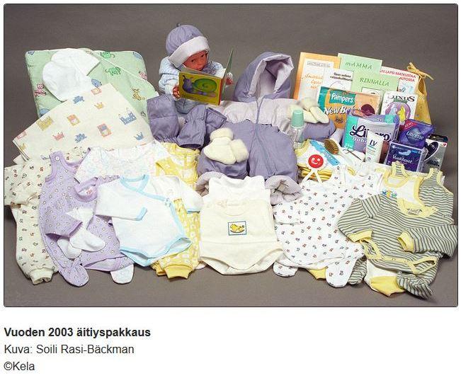 äitiyspakkaus 2003